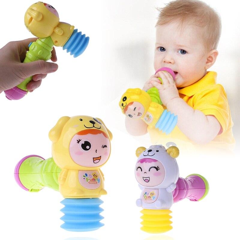 Детский светодиодный светильник Звук Музыка песок молоток игрушка малыши погремушка музыкальная игрушка случайный