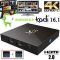 X96 S905X 10 pcs 10 pcs 1g 8g Amlogic Quad Core Android 6.0 Caixa de TV kodi h.265 HDMI Marshmallow 2.0A 4 K Media Player tv caixas
