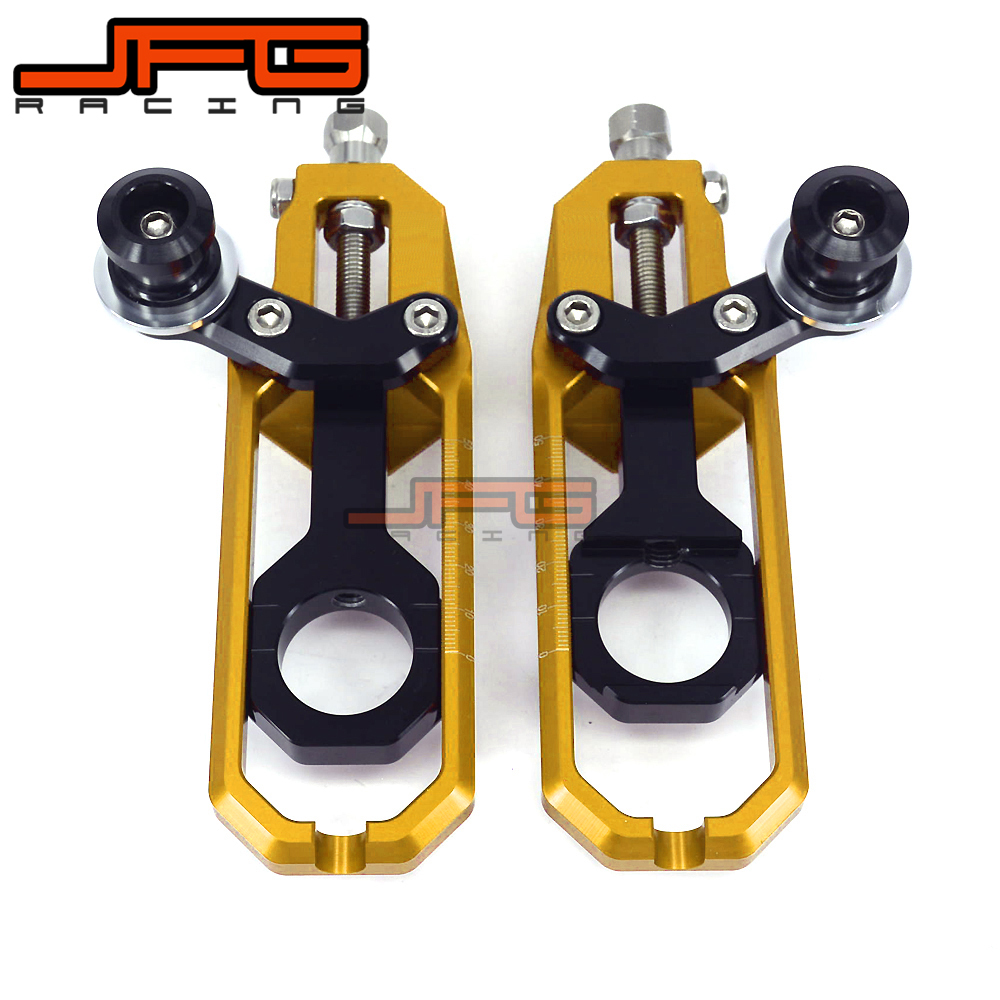Chain Adjusters Tensioners With Spool Fit for Motorcycle GSXR1000 GSXR 1000 GSX1000R 2007 2008 07 08 motorcyclr chain tensioner adjuster with spool fit for suzuki gsxr 1000 gsx r1000 2007 2008 07 08 black