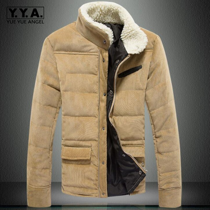 Cálido de Halloween Hombres de invierno de pana wadded chaqueta - Ropa de hombre