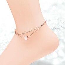 Из нержавеющей стали 316L silver/gold/розовое золото двойной слой фасоли очаровывает браслеты для женщин