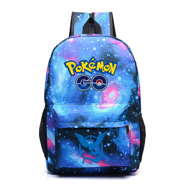 Pokemon Go Team Mystic Backpack School Bag For Teenagers Pokemon Galaxy  Backpack Womens Mens Daily Backpack Laptop Bag