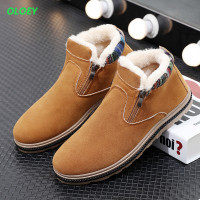 Keep Plush Bottine Homme Super Warm Man Fashion Winter Ankle Work Men Snow Rubber Rain Boots