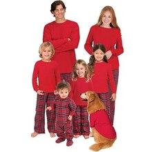 Семейный комплект пижам, Рождественская одежда для сна для мамы, папы и ребенка, одежда для сна, новинка 2017 года, костюм, Рождественская одежда для всей семьи, Пижамный набор