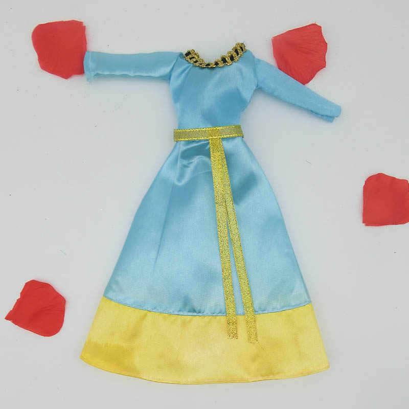 Куклы аксессуары мода платье для куклы Барби дом 1/6 Косплэй старинный китайский костюм герой Хуа мулань Одежда для куклы Барби