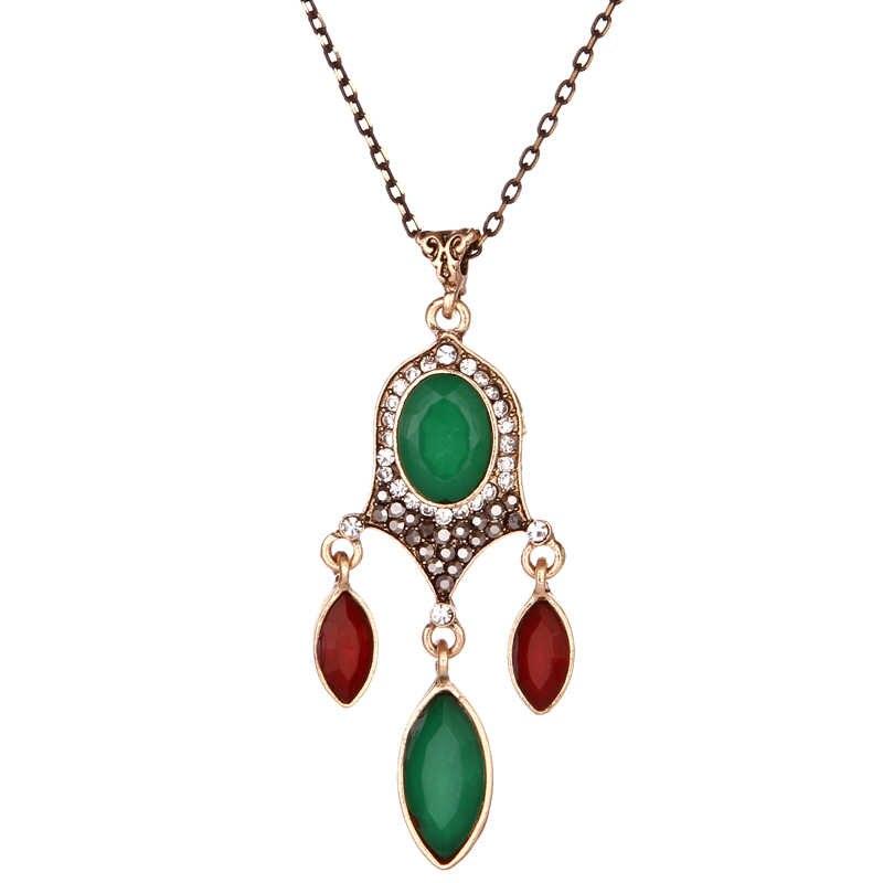 Thời trang Cổ Điển multicolor vòng cổ Pha Lê Cho Phụ Nữ Dubai Vàng Màu Tassel Wedding Jewelry Sets Engagement Đảng Món Quà của tình yêu
