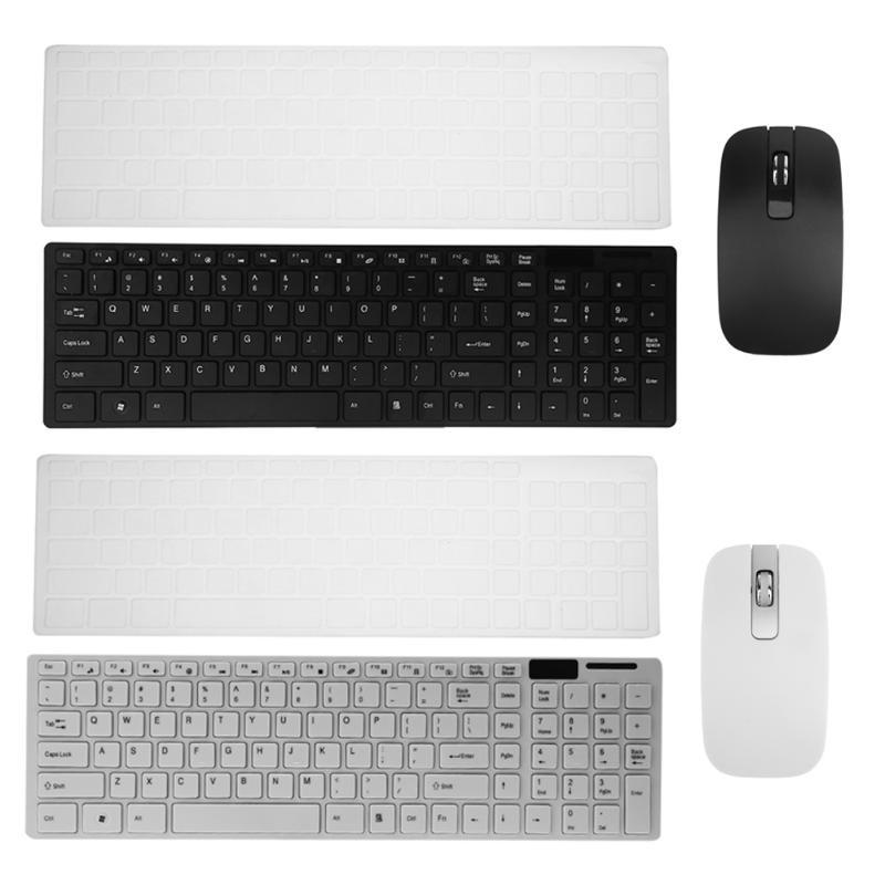 2.4G Ultra-Slim Keyboard Mouse Chocolate Silent Wireless Optical Adjustable DPI Mouse and Keyboard Combo Set or WindowsXP/7/8/10 цена 2017