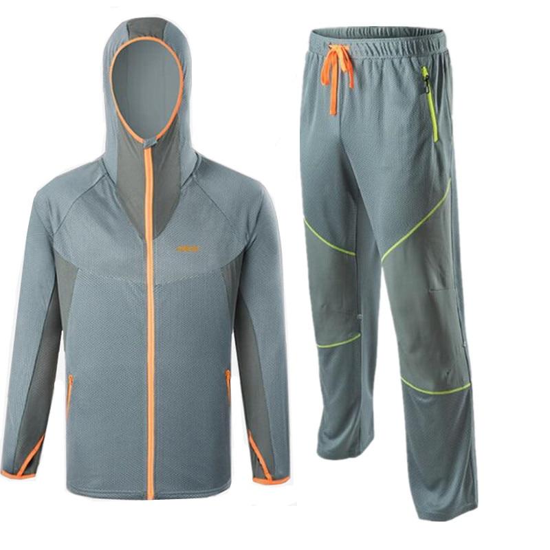 New arrival Light gray fishing shirt breathable quick dry Anti Sai UV Anti mosquit Elastic waistline fishing clothes 4XL M