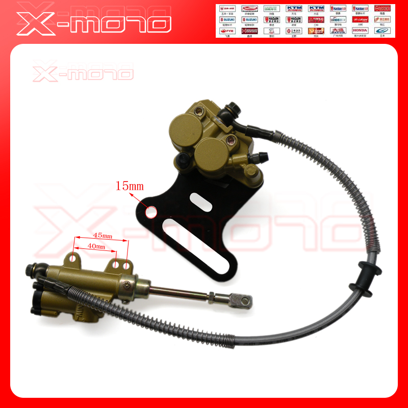 Hydraulic Rear Brake System Assembly KAYO BSE XMOTOR Dirt Bike Pit Bike Master Cylinder Caliper hose 500mm Long