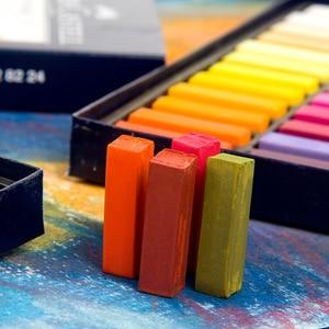 Image 2 - Faber Castell Pastel Stick 12/24/36/48/72 Colors Dyed Chalk Wax Colors Blue Box Oil Pastel Crayon Soft Pastel Blando For Art