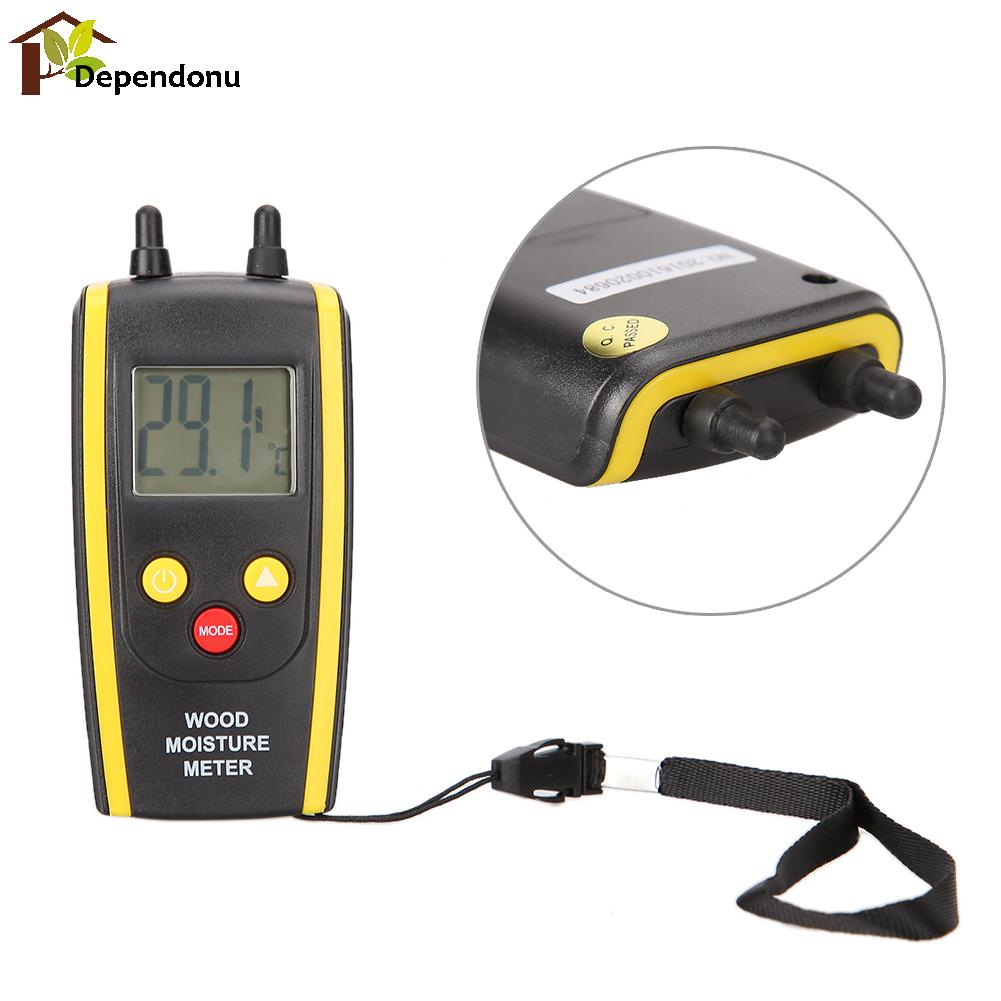 Digital LCD Moisture Meter Temperature Humidity Timber Wood Damp Tester LCD Display With Backlight