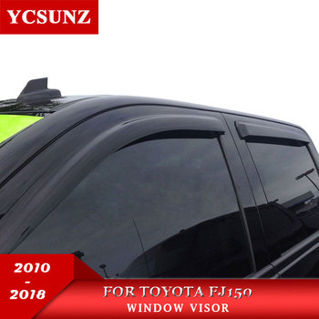 Window visor for Toyota Fj150 2010-2018 side window deflectors rain guard for Toyota 150 LC150 2010-2018  car accessories YCSUNZ
