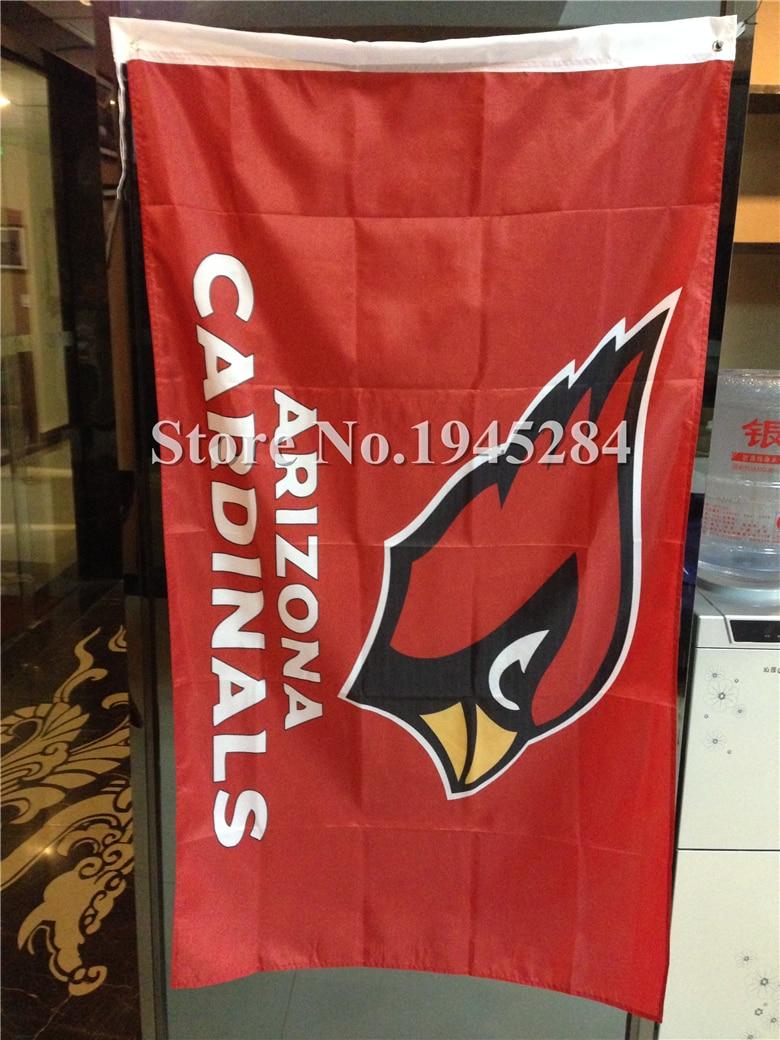 NFL Arizona Cardinals Wordmark Flag Banner New 3x5ft 90x150cm Polyester Flag Banner 7083, free shipping