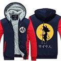 Hot New DRAGON BALL Fleeces Hoodie Thicken Son Goku Logo Winter Fleece Mens Anime Sweatshirts Free Shipping