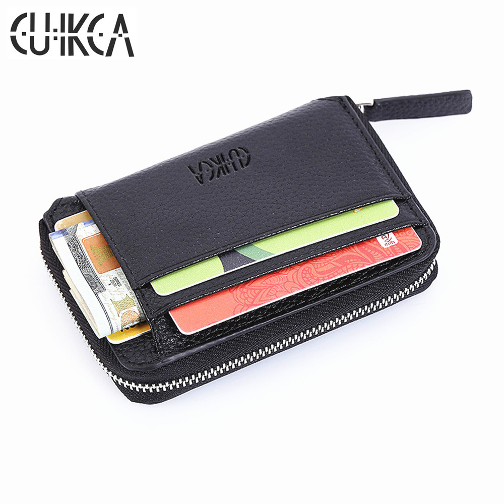 CUIKCA Fashion Wallet Women Men Wallet Mini Leather Wallet Zipper Coins Slim Wallet Purse Credit ID & Card Holders Card Cases брюки accelerate tight