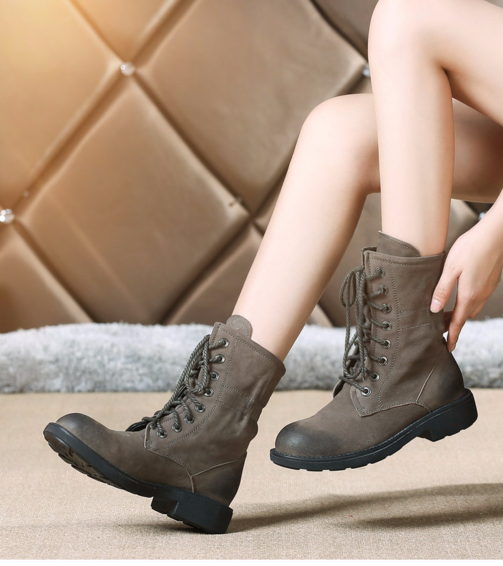 2017 autumn, European and American English wind, old boots, leather shoes, flat bottomed Martin boots fall trendboots in europe and america heavy bottomed martin boots british style high top shoes shoes boots sneakers
