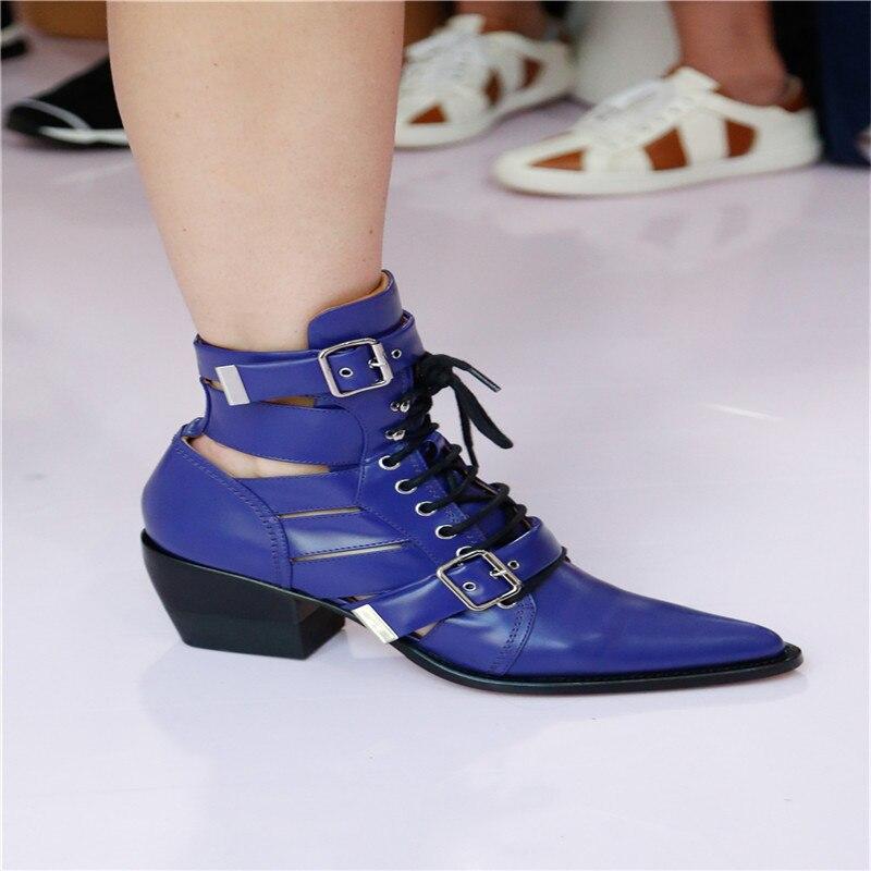 Métal Talon Cheville Show Boucle Bottes attaché En Chunky Chaussures Stilettos Martin Sandales As Pompes Show Dames Croix as Pointu Courtes Femmes Bout Marée XAwZB7xq7