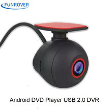 FUNROVER USB 2. Night Visión Frontal de La Cámara de Vídeo Digital Grabadora dashcam DVR Cámara 1920*1080 P HD 360 grados de rotación Mini negro