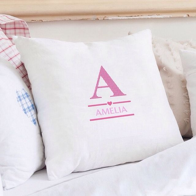 Preferred Personalized Cushion Cover Custom Personalised Girl Initial Name  DY46