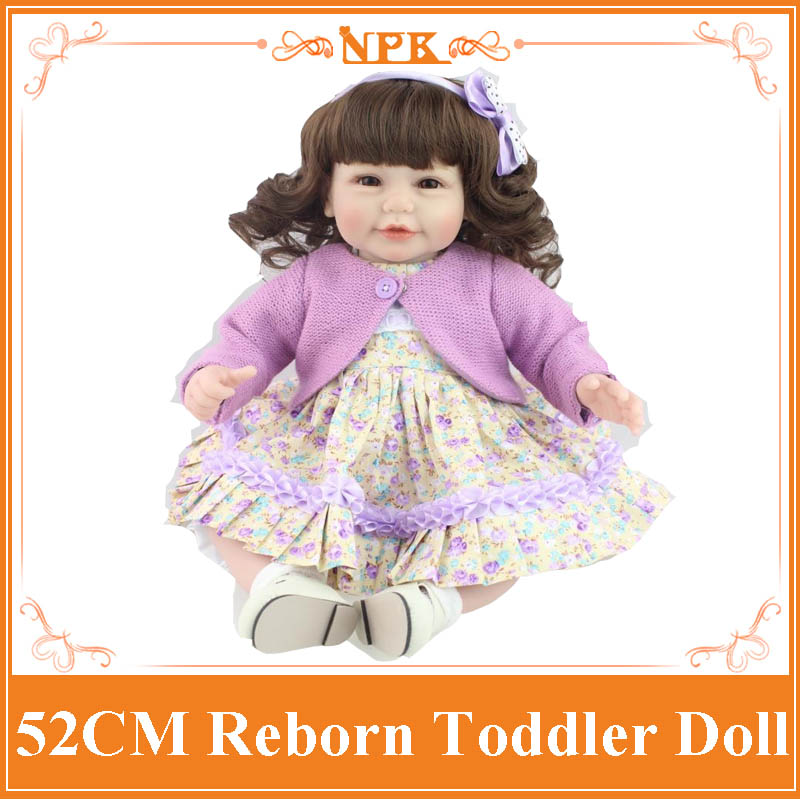 Curl Hair 52cm 20 '' Realistic Toddler Dolls With Special Design 20inch Baby Doll Clothes Hot Welcome Reborn-Baby-Doll Best Toy short curl hair lifelike reborn toddler dolls with 20inch baby doll clothes hot welcome lifelike baby dolls for children as gift