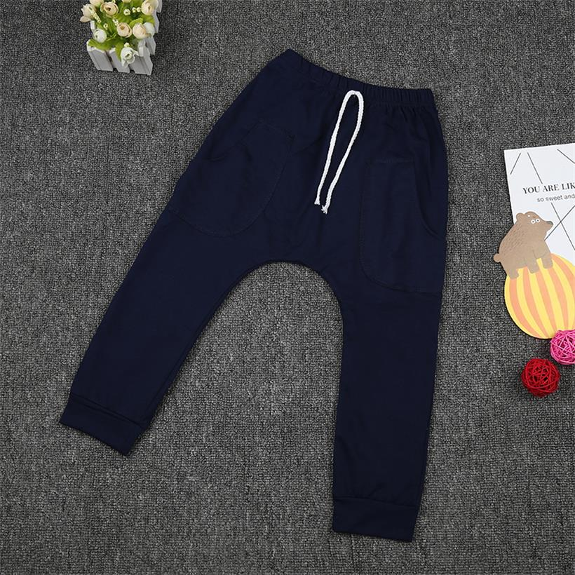 Baby Kids Casual Trousers Jersey Harem Pants Child Boys Girls Clothes 2-7 Years