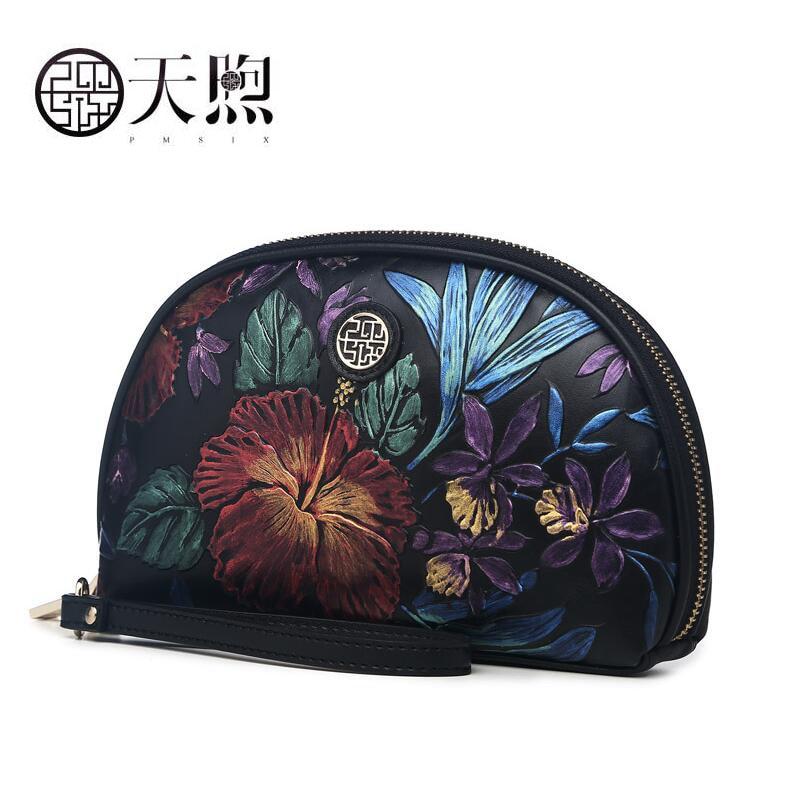 Kupplungen Gepäck & Taschen Nett Pmsix 2019 Neue Frauen Echtes Leder Taschen Berühmte Marke Frauen Leder Luxus Geprägte Handtasche Mode Frauen Leder Tasche