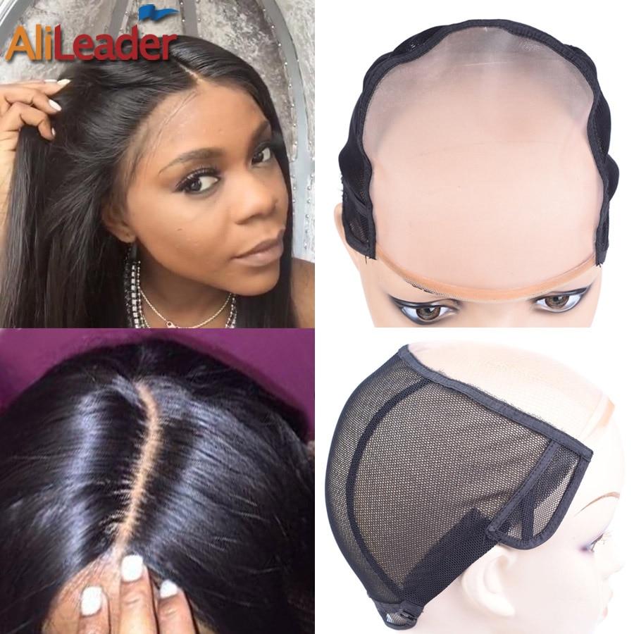Популярные моно парики Alileader, колпачки для изготовления париков, аксессуары для париков, инструменты для женщин, невидимые сетки для волос х...
