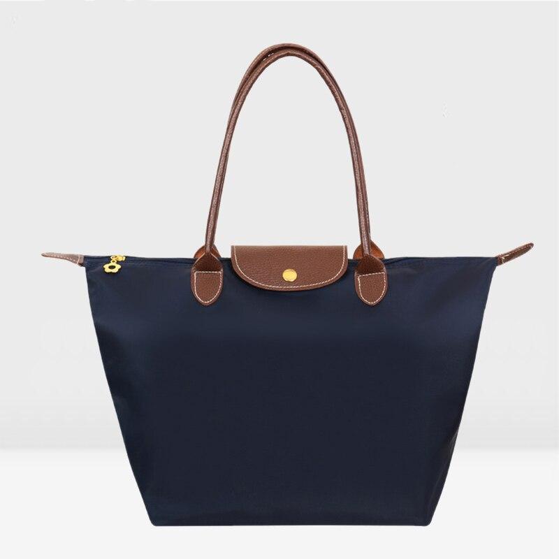 Fashion Women Bags Folding Shoulder Handbags Dumplings  Female Travel Tote Foldi
