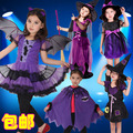Children's clothing bats masquerade party Parties dressing up female shaman cloak witch suit clothes suits
