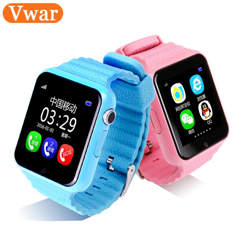 Vwar Original V7K GPS Bluetooth Smart Watch for Kids Boy Girl Apple Android Phone Support SIM