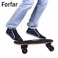 17inches Portable Mini Skateboard Maple Skate Peny Board Plate Brush Street Deck Four Wheels Drift Skate