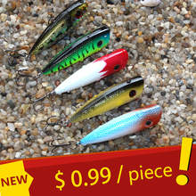 MiG 5 Color 6cm 7g Topwater Fishing Lures Popper Lure Crankbait Minnow Hooks 8# Swimming Crank Baits