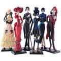 Classic Anime 6Pcs/set Black Butler Kuroshitsuji figures toys 12cm Ciel Phantomhive Action figure Collection PVC Model