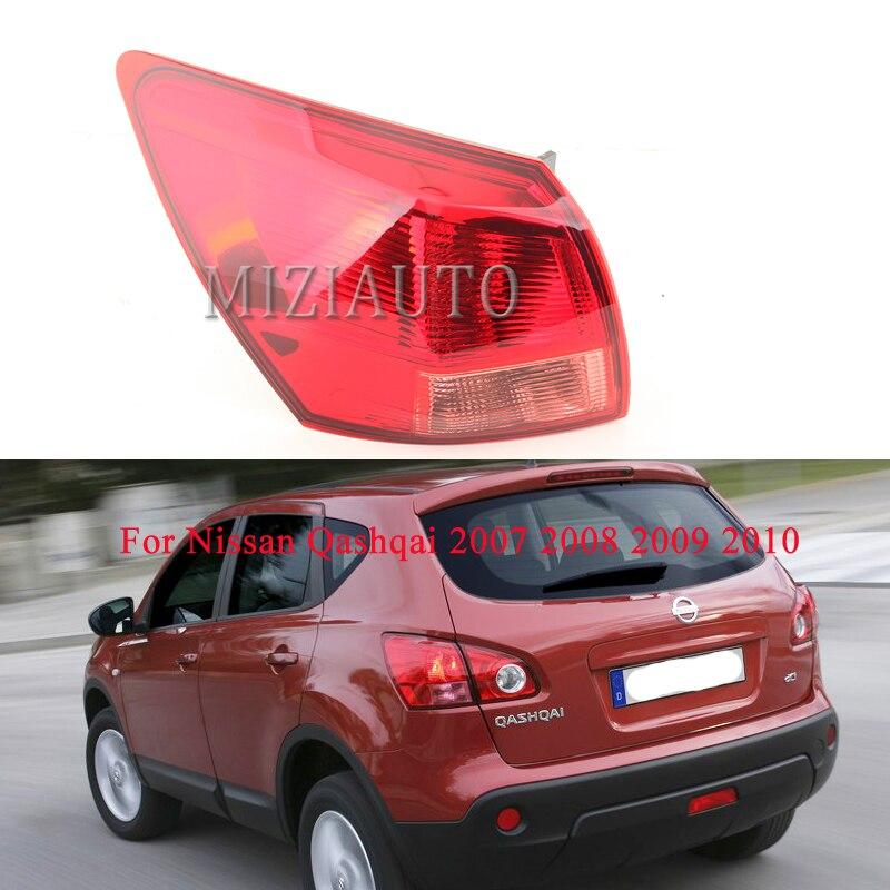 MIZIAUTO lampa tylna zewnętrzna strona dla Nissan Qashqai 2007 2008 2009 2010 lewy/prawy tylny hamulec światło przeciwmgielne Stop lampka kierunkowskazu
