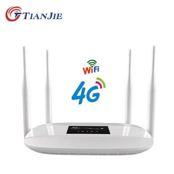 TIANJIE разблокированный 300 Мбит/с 4 внешних антенны домашний Wifi маршрутизатор 3G 4G GSM LTE маршрутизатор точка доступа 4G модем 4g маршрутизатор с сл...