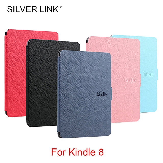 quality design 05c21 8a14e US $4.73 40% OFF|SILVER LINK Kindle 8 Case Protective Cover for Kindle 8th  generation Ebook Skin Hard Shell with Magnetic KC0008-in Tablets & e-Books  ...