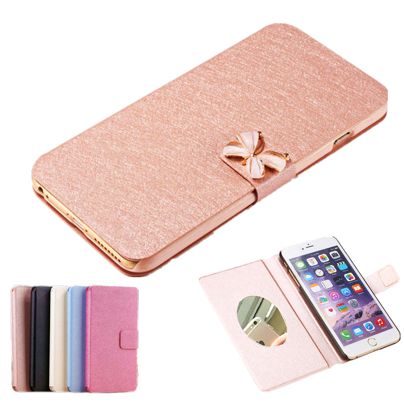 For ZTE Grand S ii S2 S291 Case,Wallet Book Style Flip PU Leather Cover For ZTE Grand S2 screen Mirror phone case+Stand TV Movie