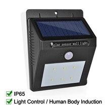 LED Solar Light Waterproof IP65 Solar Lamp Power LED Solar Light Outdoor Wall Lamp For Garden Decoration