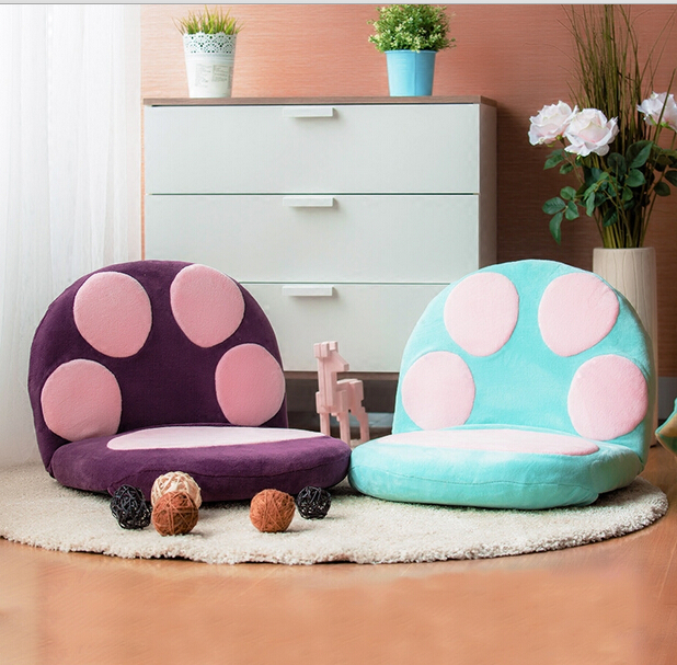 Paw Cushion Seat Floor Folding Chair Legless Puppy Bear Cat Living Room Furniture Lightweight and Portable Japanese Chair 240337 ergonomic chair quality pu wheel household office chair computer chair 3d thick cushion high breathable mesh