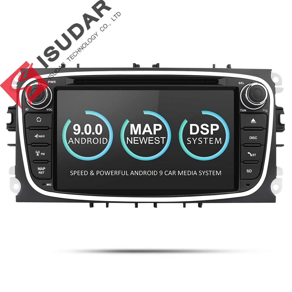 Isudar Car Multimedia Player Android 9 GPS 2 Din car dvd player for FORD/Focus/S-MAX/Mondeo/C-MAX/Galaxy wifi car radio DSP DVR