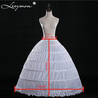 Q10 Real Ball Gown 6 Hoops White Underskirt Bridal Petticoat Crinoline for Quinceanera Dress Wedding Accessories Women Girl