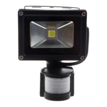 PIR Motion Sensor Security Wall Pure White LED Waterproof Flood Light Lamp 10W(China)