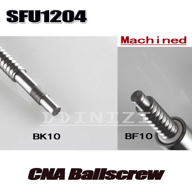 1 pz vite della Sfera SFU1204 450mm + 1 pz RM1204 Ballscrew dado Palla con lavorazione standard per BK10/Trasporto Libero BF10
