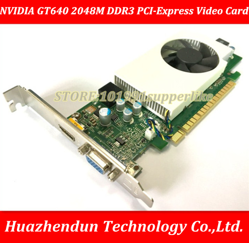 DEBROGLIE 1PCS Brand New Full height NVIDIA  GeForce 640 2048M DDR3 PCI-Express GT640 Graphics Video Card кабель orient c391 pci express video 2x4pin 6pin