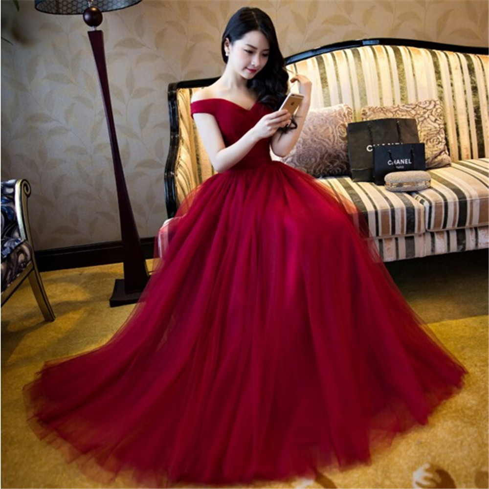 Sexy Off shoulder Burgundy   Bridesmaid     Dress   2017 Cheap Maid of Honer Wedding Guest   Dress   Formal Wedding Party   Bridesmaid   Gowns