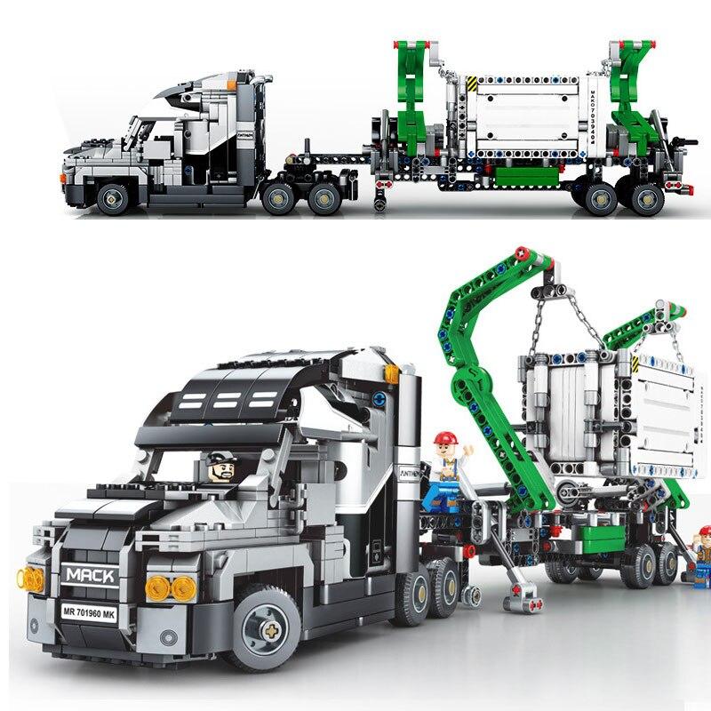 703940 ville le grand camion Mack Set Mack Anthem bloc de construction briques jouets 1202 pièces Compatible avec Legoings Technic Kid cadeau