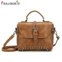 FGJLLOGJGSO Crossbody Bags For Women Messenger Bags Vintage Leather Bags Handbags Female Famous Brand Rivet Small Shoulder Sac