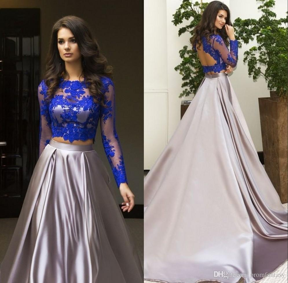 Two Piece Prom Dress and Long Sleeve