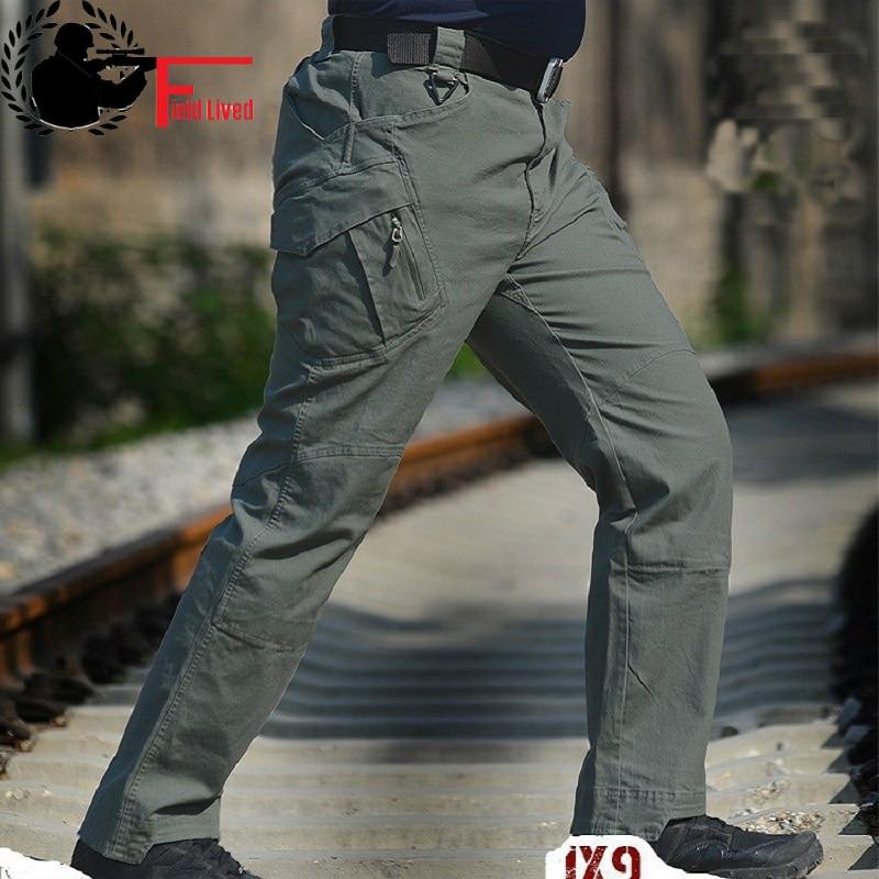 578c4e26c8 MALE TROUSERS Tad IX7 IX9 Militar Tactical Cargo pants men joggers ...
