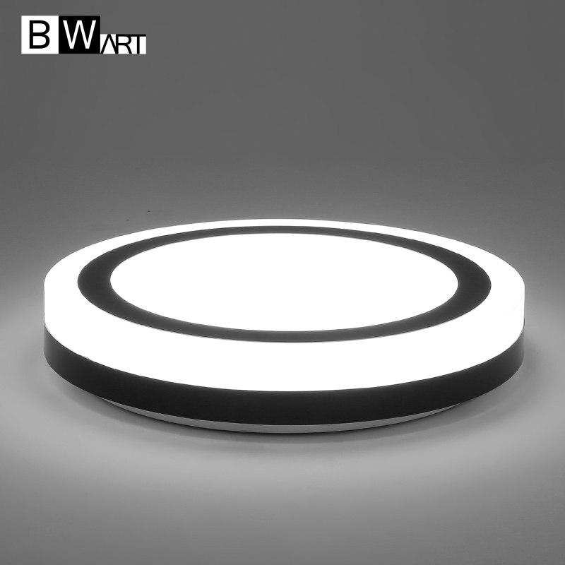 BWART Round Indoor Crystal ceiling light Home AC85-265V Modern circle Led Ceiling Lamp Fixtures For Living Room Bedroom